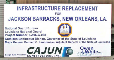Cajun Construstors sit sign