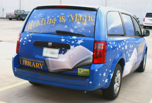Goodwood Library Van Wrap