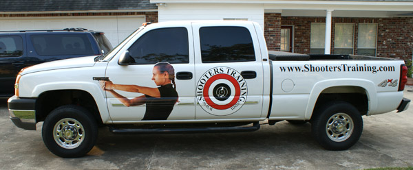 Shooter training truck Wrap