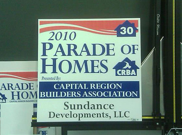 Parade of Homes Yard signs